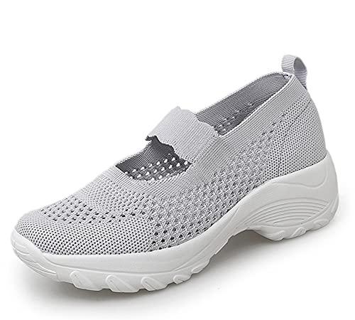 SEEROL Zapatillas Deportivas de Mujer Casual Ligero Aire Libre y Deporte Zapatos Transpirable Comodas Gimnasio Correr Sneakers Verano