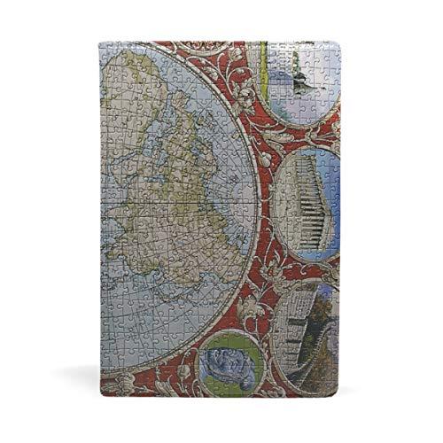 Buchumschläge Puzzlekarte, personalisierbar, Jumbo-Größe, dehnbarer Buchumschlag bis 22 x 14,5 cm
