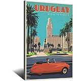 Vintage-Reise-Poster Uruguay, Leinwand, Kunstdruck, Poster,