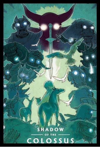 Quadro Shadow Of The Colossus Game Arte Moldura 42x29cm