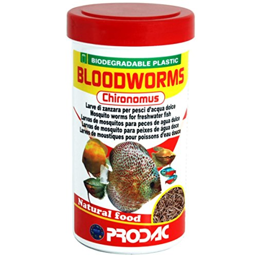 prodac BLOODWORMS CHIRONOMUS Larvas Rojas de Mosquito 250ml 20gr
