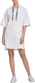 DKNY Sport Logo Hoodie Dress White Size Small