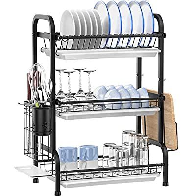 Dish Drying Rack, Ace Teah 3 Tier Dish Drainer,...