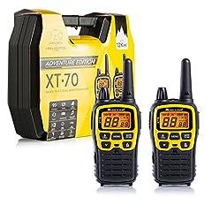 Midland XT70 Adventure PMR-Talkie Talkie, 2x Radios avec une portée jusqu'à 12 km, avec écran LCD et prise de charge micro-USB, pour les enfants et l'extérieur
