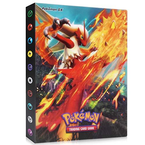 Pokemon Kartenhalter Binder, Pokemon Sammelalbum, Album für Pokemon Karten GX und EX, Pokemon-Karten Flash Trainer Karten Sammelmappe Kartenalbum mit 30 Seiten - Platz für bis zu 243 Karten