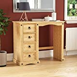 Amazon Brand - Movian Corona Dressing Table, Solid Pine Wood, 84 x 100 x 47 cm