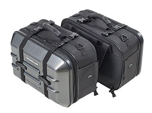 タナックス(TANAX) バイク用サイドバッグ MOTOFIZZ ツアーシェルケース2 (カーボン柄) 容量40ℓ(片側20ℓ) MFK-250