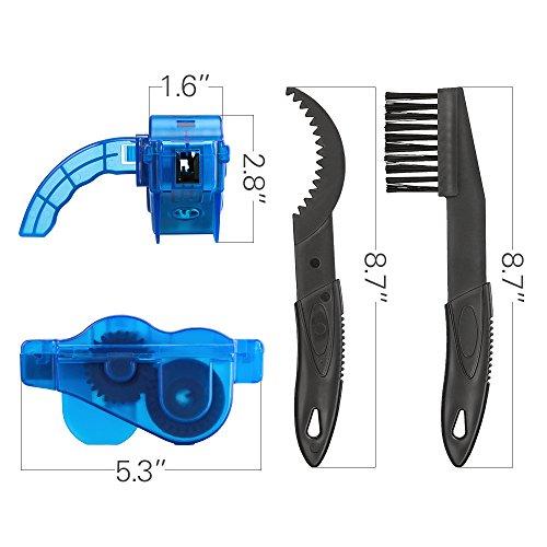 Fahrrad Kettenreinigungsgerät, Furado Kettenreiniger, Reinigung Scrubber Pinsel-Werkzeug im Set mit Ritzelbürste, Schnelles sauberes Werkzeug für Alle Arten von Fahrrad Kettenreinigung (blau) - 6