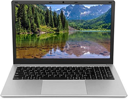 Ordenador portátil de 15,6 pulgadas (Intel Celeron 64 bits, 6 GB DDR3-RAM, 128 GB SSD, batería de 10000 mAh, cámara web HD, Windows 10 Pro OS preinstalada, pantalla IPS 1920 x 1080).