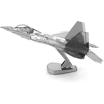 Metal Earth Fascinations F-22 Raptor Airplane 3D Metal Model Kit