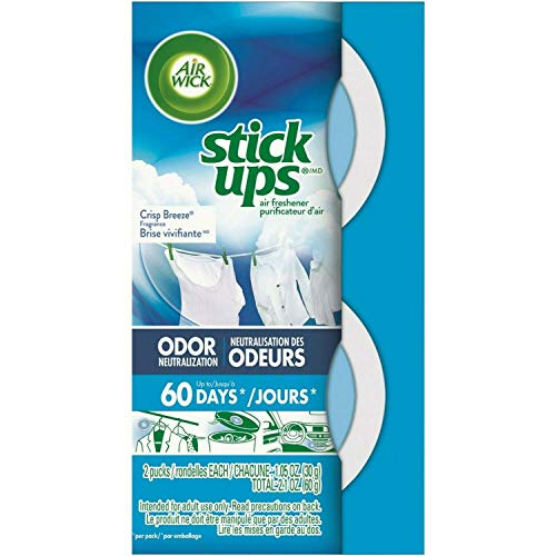Air Wick Stick Ups Car Air Freshener, Crisp Breeze (Packaging May Vary), 2ct (Pack of 3)