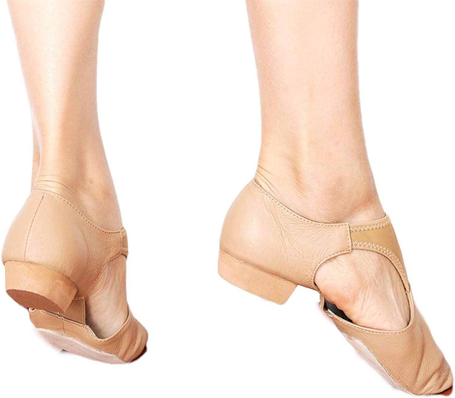 Kyle Walsh Pa Women Leather Stretch Jazz Dance shoes for Women Ballet Jazzy Dancing shoes Teachers's Dance Sandals Excercise shoes