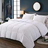 Decroom White Comforter Set, 1 Down Alternative Quilted Duvet with 1 Pillow Shams, Light Weight and Soft for All Season Twin Size