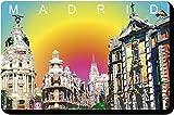 Artimagen Imán Gran Vía Madrid Colores 70x45 mm.