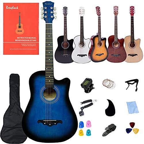 Rosefinch Chitarra acustica per principianti 3/4, set chitarra acustica per adulti, 38 pollici, dreadnought, con...