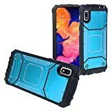 Compatible with Samsung Galaxy A10e SM-A102 - Aluminum Metal Hybrid Phone Case - ZY1 Blue