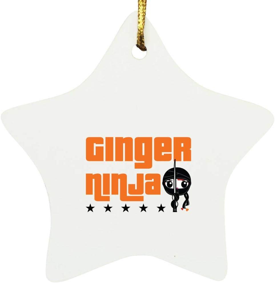 Ginger Ninja Hair Star Ornament overseas security