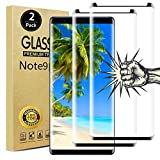 【2 Pack】Note 9 Screen Protector, 3D Curved 9H Scratch-Resistant Bubble-Free Full Coverage HD Clear Dot Matrix Galaxy Note 9 Screen Protector Tempered Glass for Samsung Note 9
