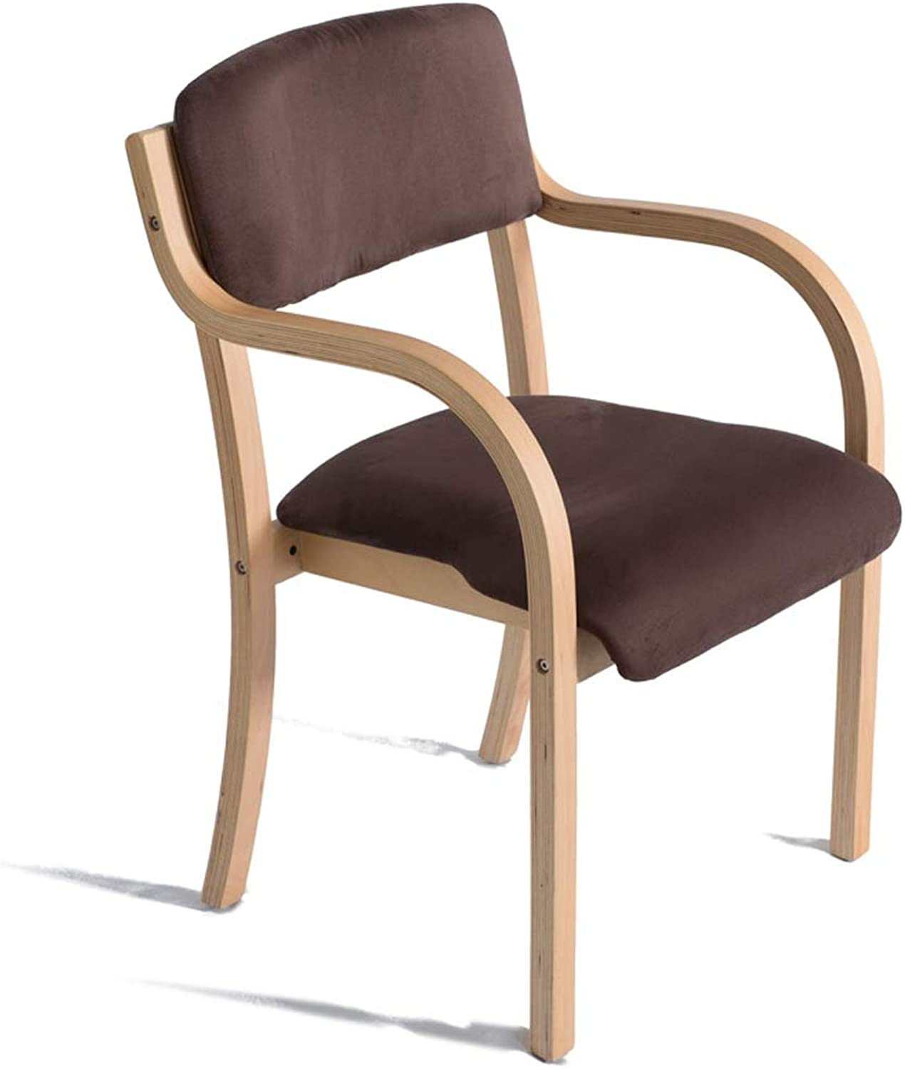CXQ Modern Minimalist Solid Wood Leather Dining Chair Study Chair Office Home Desk Chair Computer Chair (color   Wood color)