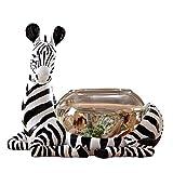 Pecera de cristal de cebra, decoración de sala de estar, adornos, acuario de oficina, tanque de tortuga de escritorio