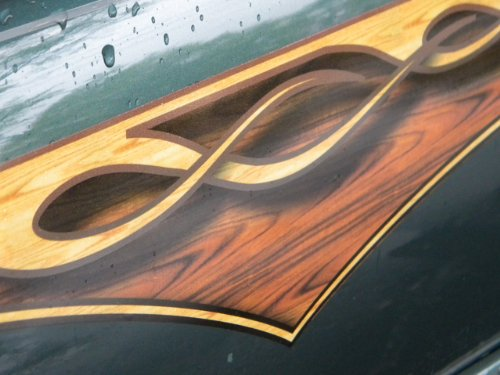 East Coast Vinyl Werkz Wood Panel Flame decals - 2 piece set