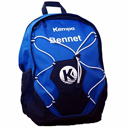 Kempa Kinder Rucksack royal blau mit Ballnetz 35 x 15 x 48 cm + Aufdruck Name