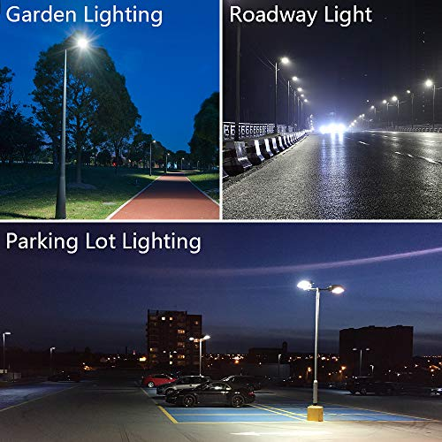 SZGMJIA 150W Parking Lot Lighting, CREE LED 22,500 Lumen Super Bright 5000K Daylight White Replaces 600W Halide Slip Fit Mount LED Street Lights Shoebox Pole Lights with photocell