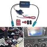 FEELDO Amplificador de señal de antena de radio de coche de 12 V para coche con conector FAKRA II