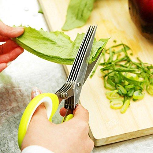 Bazaar 5 messen roestvrij staal keuken kruid ambachtelijke versnipperen papier snijden schaar