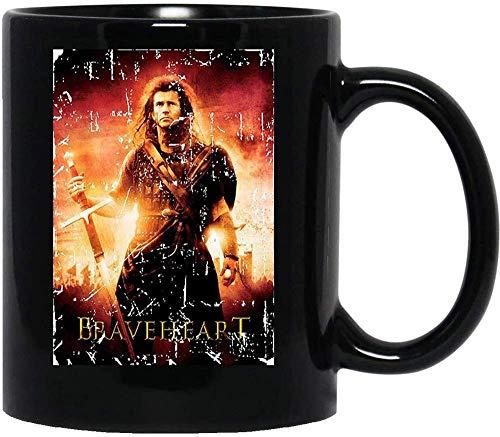 N\A Póster de la Cubierta de la película de Braveheart Mel Gibson William Wallace Isabella Murron Tazas de café de cerámica Tazas