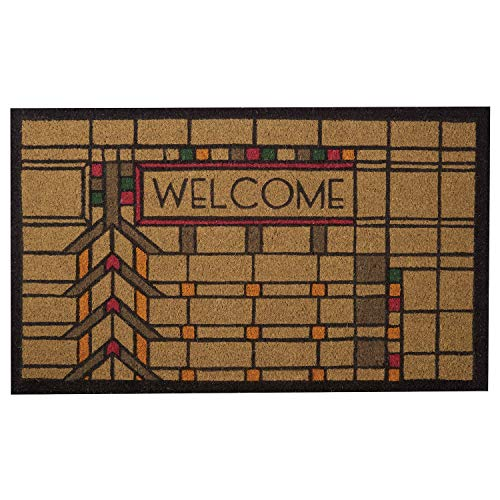 Frank Lloyd Wright Colored Darwin D. Martin House Welcome Doormat