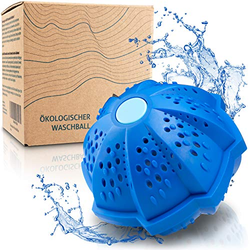 AHUA Eco Washing Ball - Washing Ball per Lavatrice – Lavaggio senza detersivo – Lavaggio ecologico – Prodotti ecosostenibili | Priva di BPA, 100% Riciclabile, Nessuno spreco