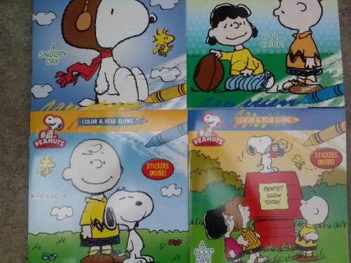 Price comparison product image Peanuts Color & Read Along with Stickers 4-Pack