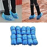 Badry 100 Unids/Set Cubiertas de Zapatos Desechables Impermeables de plásticoProtector de Piso dedía lluvioso Cubierta de Zapatos deLimpieza Azul Cubierta de Zapatos - Azul,