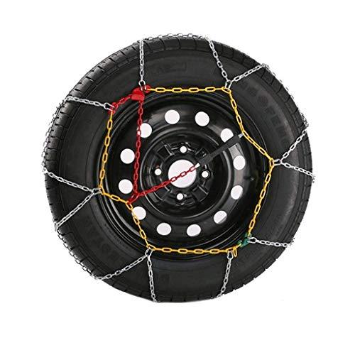 WEI-LUONG Neumáticos Cadenas de Nieve, Cadenas de Nieve de Coches, Cadena de tracción de neumáticos Cadena de neumáticos clásicos de Invierno Cadena de neumáticos para Coches de pasajeros, Cadenas de
