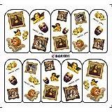 SPRK Nagel Kunst-Wasser-Abziehbild SCHWEBER Nagel-Aufkleber Angel Baby Religion Monroe Liebe Amor Jewlry Ring BOP001-008