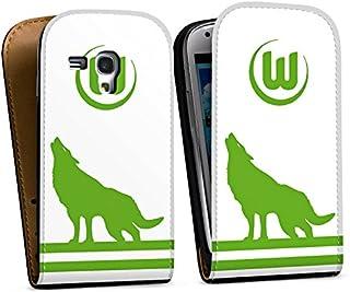 DeinDesign Tasche kompatibel mit Samsung Galaxy S3 Mini Flip Case Hülle VFL Wolfsburg Fußball Offizielles Lizenzprodukt
