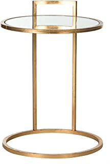 Safavieh Home Collection Calvin Round Gold Leaf End Table