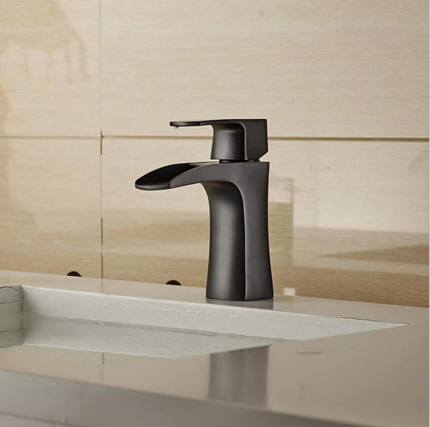 Modern Swivel Spout Fittings Waterfall Faucetcopper Mixing Faucet Half-Open High-Grade Basin Faucet Water Heating