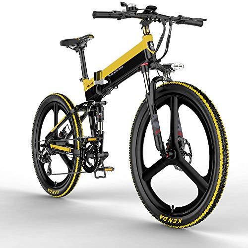 Autoshoppingcenter Bicicleta Eléctrica Plegable Ciclomotor 30km/h 400W Ruedas 26 Pulgadas de Magnesio Bici Ciudad/Montaña Aluminio Autonomía 100KM Display LCD Bateria de Litio 3 Modos [EU Stock]