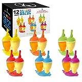 U.S. Kitchen Supply Jumbo Set of 12 Rainbow Ice Pop Molds - Sets of 2 in 6...