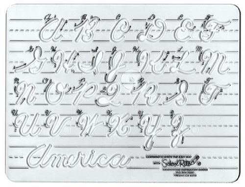 Template Cursive Uppercase Letters and Numbers