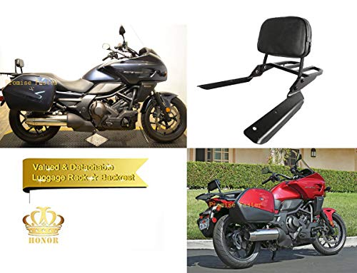 Promise Faster Black Backrest Sissy Bar + Luggage Rack Pad for Honda CTX700/D CTX700N/ND 2014-2020