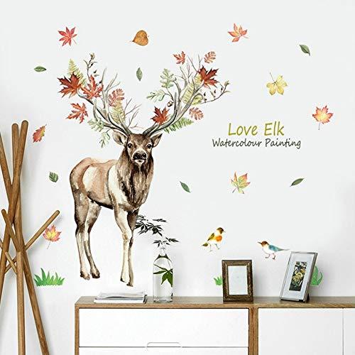 Muursticker Elk Muurstickers Woonkamer Slaapkamer Decoratieve Wanddecoratie Stickers Groen Woninginrichting Behang Mural Organisator