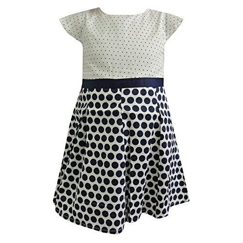 Zout en Peper - Baby meisje jurk zomer jurk feestelijke jurk gevlekt, blauw-wit - 73220283