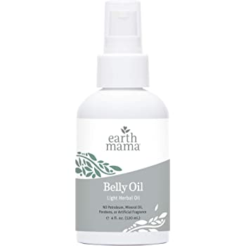 Belly Oil by Earth Mama | to Safely Moisturize and Promote Skin's Natural Elasticity During Pregnancy and to Ease The Appearance of Stretch Marks, 4-Fluid Ounce (Packaging May Vary)