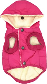 Capucha extra/íble Talla XS a XXL Disponible cord/ón Ajustable y Bolsillo Disfraz para Perro Resistente a la Lluvia//Agua Morezi Traje de Nieve para Perro con Cremallera y Botones Reflectantes
