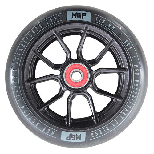 MADD MGP Gear Stunt Scooter Aluminium Team Ersatzrollen Rolle Wheel 2er Set ABEC 11 | 120 mm | schwarz