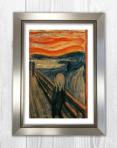 Engravia Digital Póster The Scream por Edvard Munch 1893 con impresión de Pintura A4