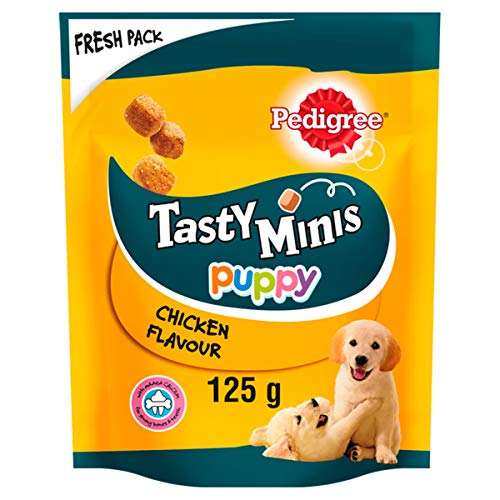 Pedigree Tasty Bites Puppy Treats Chewy Cubes with Chicken, 125 g (Pack of...
